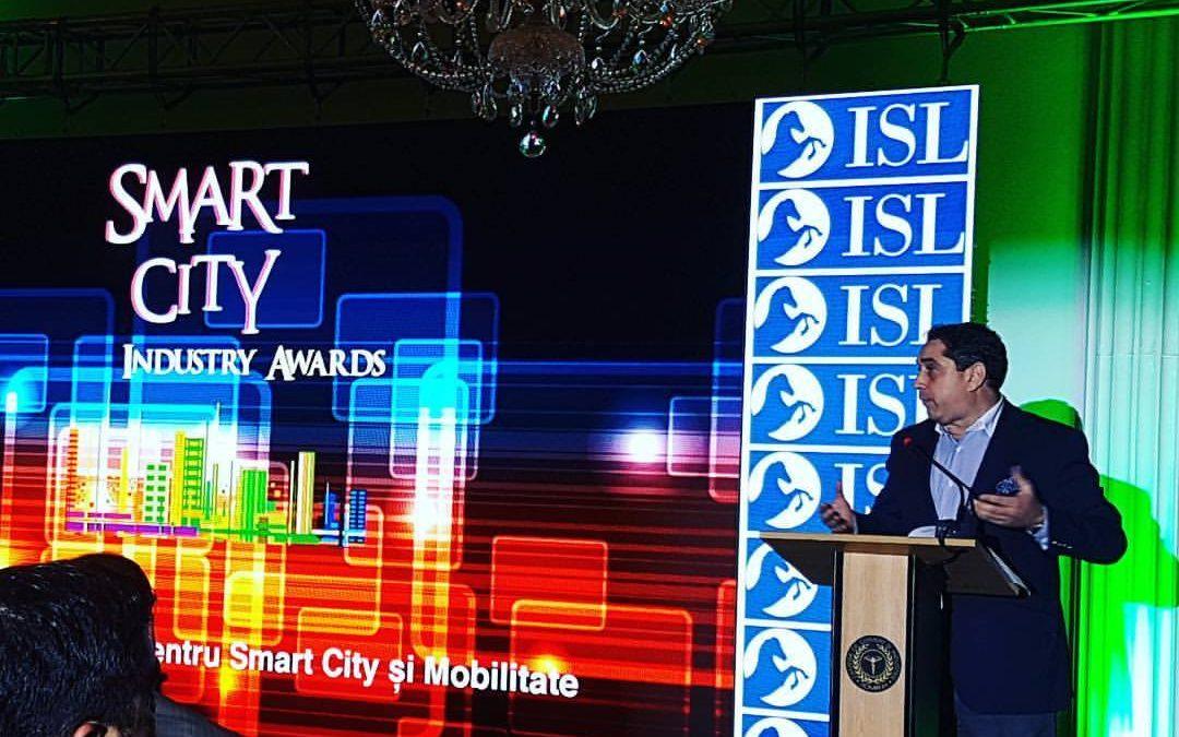 """Premiul de Excelență pentru devotament și implicare în dezvoltarea comunităților creativ inteligente"""" în cadrul Galei Smart City Industry Awards 2017"""